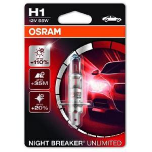 43-1981 | Osram Night Breaker Unlimited H1-polttimo +110% 12V