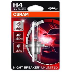 43-1984 | Osram Night Breaker Unlimited H4-polttimo +110 % 12 V
