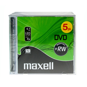 47-9084 | Maxell DVD+RW levy 6x 4,7GB JewelCase 4,7GB 5kpl