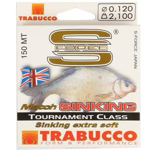 56-5620 | Trabucco S-Force Match Sinking monofiilisiima 0,12mm 150m