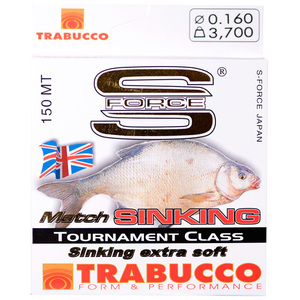 56-5622 | Trabucco S-Force Match Sinking monofiilisiima 0,16mm 150m