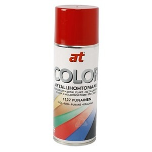 60-9431 | AT-Color Metallihohtomaali punainen 400 ml