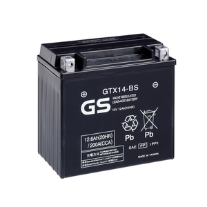 "90-0646 | GS MP-akku 12V 12Ah ""GTX14-BS/YTX14-BS"""