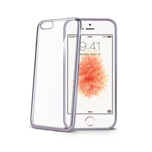 95-00031 | Celly Laser -suojakuori iPhone SE/5s/5, hopea