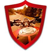 Mototurva auttaa moottoripyöräilijää